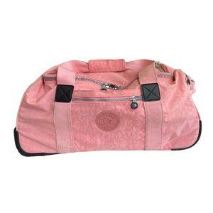 Kipling rolling duffle bag pink carry on bag